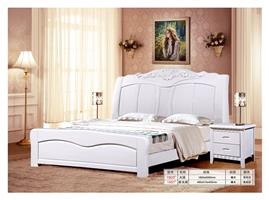 Simple Ivory bed combination bedside cabinet 1603#