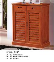 Import oak two door shoe cabinet 617#
