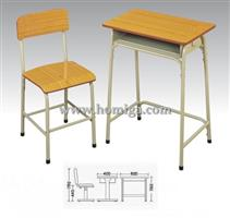 Steel wooden desks and chairs HF495A