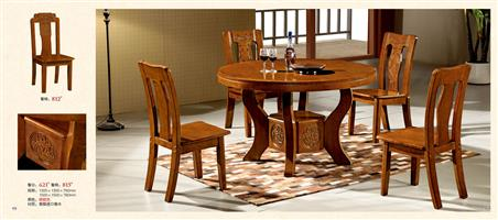 Solid wood dining tables and chairs imported oak 621#