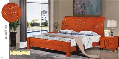 Boutique solid wood bed 881#