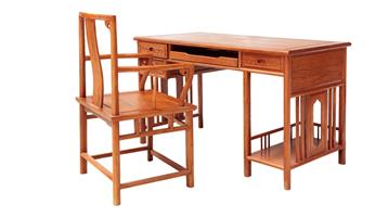 Redwood computer table 01#