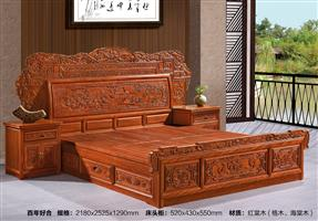The red Tong wood furniture bed