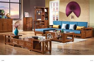 Imported oak coffee table, sofa, living room set 905#