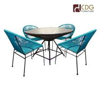 Rattan dining table dining chair