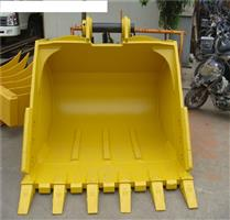 wholesale factory gold supply excavator attachment parts 2.5m3 heavy duty bucket for excavator PC400 with five teeth on hot sale