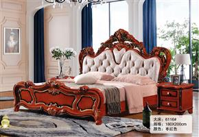 Classical carved bed