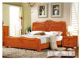 Solid wood bed set 1604#