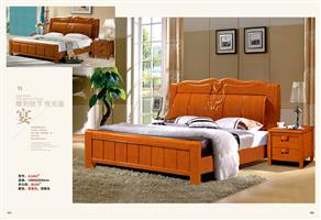Chinese wood bed 1602#