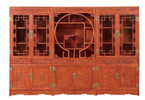 Antique wooden combination bookcase 05#
