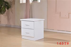 Ivory white simple bedside table 1453#