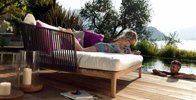 Teak outdoor sofa garden sofa 09#
