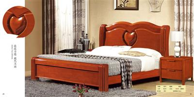 Boutique solid wood bed 811#