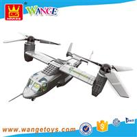 military V22 osprey aircraft model toys Wange plastic bricks